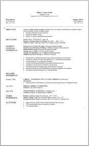Nursing Student Resume Template 13 Examples Seeking A Registered