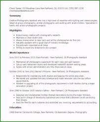 Photographer Resume Sample 47 Creative Concepts You Need To