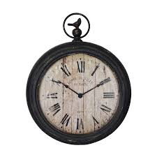 cheung s 12 in cheungs fp 3308 antique black roman numeral pocket watch wall clock