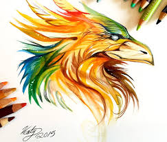 Drawings Of Phoenix With Color Drawing Dreaming In Color Drawing By M West How To Draw