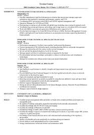 Infrastructure Technical Specialist Resume Samples Velvet Jobs