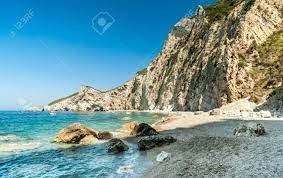 Paradise Beach, Corfu Island, Greece. Paradise Beach Is One Of.. Stock  Photo, Picture And Royalty Free Image. Image 55118376.