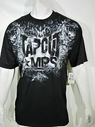 Tapout Clothing Size Chart E Tapout Mens T Shirt Cotton Print Blue Size L 27 25
