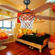 childrens bedroom lighting. Classic Basketball Ceiling Fan Lights Children\u0027s Bedroom Simple Style Ceilling Remote Control Childrens Lighting