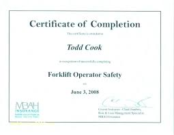 Free Forklift Certificate Template Forklift Certification Card Forklift Certification Template