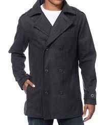 empyre chambers charcoal wool pea coat