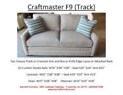 craftmaster f9 studio size track arm