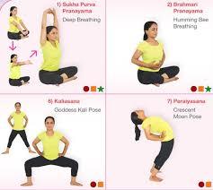 Prenatal Yoga Wall Chart Andiappan Yoga