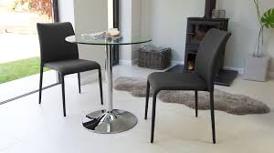 attractive two seater round glass dining set stackable chairs 2 seater dining set