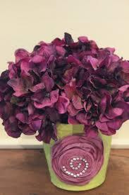 Paper Flower Pots Paper Flower Pot With Fushia Hydrangeas