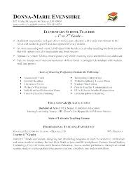 Resume Template For Teachers Interesting Elementary School Teaching Resumes Education Teacher Resume Template