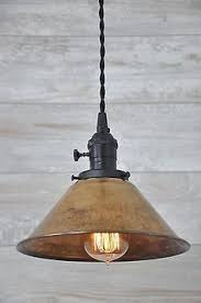 rustic pendant lighting fixtures. unfinished copper spun cone industrial pendant light fixture rustic vintage lighting fixtures o
