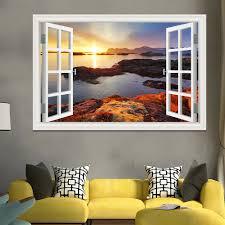 Meer Sonnenuntergang 3d Wandaufkleber Qualität Entfernbare