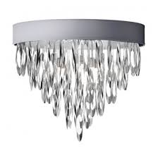 dainolite all 164fh pc sv allegro 4 light flush mount chandelier in polished chrome with silver shade