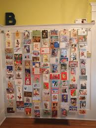 How to display a postcard collection
