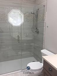 agreeable gray in bathroom with greige tile kylie m interiors edesign paint colour consultant client photo