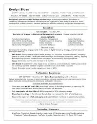 Sports Marketing Resume Samples Best Of Marketing Resume Sample Student Resume Sample Marketing Resume