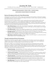 Gallery of executive summary example for resume senior management .