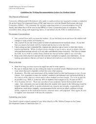 Letter Of Recommendation For Medical Doctor Medical School Letter Of Recommendation Template Samples Letter