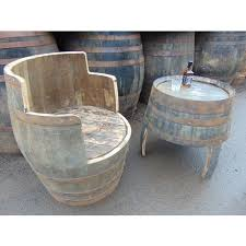 french wine barrel table