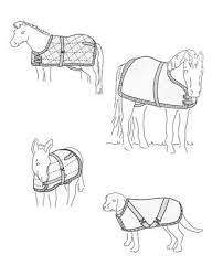 Su7606 Blanket Or Sheet Pattern For Miniature Horses Foals