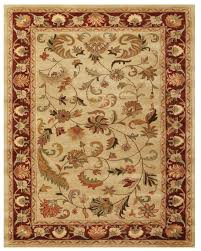 oriental rug in red and ivory color with a pure wool pile