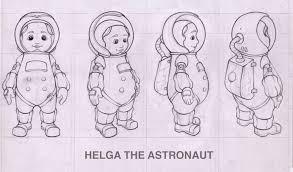 Astronaut Character Design Artstation Helga The Astronaut Character Design