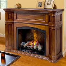 thompson burnished walnut electric fireplace cabinet mantel package gds29 1262bw