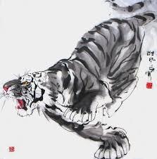 chinese tiger drawing. Beautiful Tiger Httpwwwinkdancechinesepaintingscomtigerpicture4695005 In Chinese Tiger Drawing C