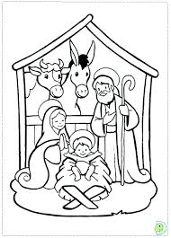 Best Nativity Scenes Images On Coloring Pages Home Improvement