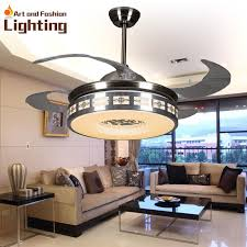 ceiling fans with lights for living room. Luxury Ceiling Fan Lights Modern Fans 42 Inches 5 Invisible Acrylic Blade Living Room Bedroom With For O