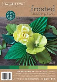 lia griffith frosted tissue paper green 24 count