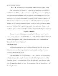 Example Of Apa Essay Paper Sample Apa Style Essay Research Paper Apa Style Template