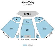 Alpine Valley Shows And Dates Alpine Valley Seating Chart