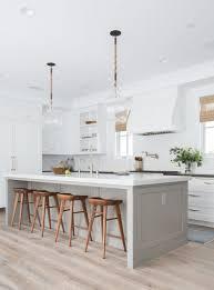 a minimal neutral interior design for a an open kitchen concept ...