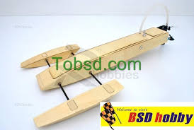 19 5 inch rc ep wooden mini trident kit rc boat outrigger rigger hydroplane hydro