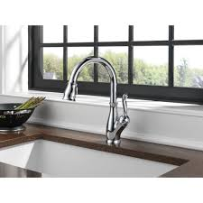 Delta Chrome Kitchen Faucets Delta Faucet 9178 Dst Leland Polished Chrome Pullout Spray Kitchen