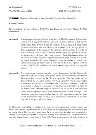 Civil War Essay Essay Civil War Lebanon