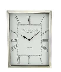 rectangular silver nickel wall clock zoom