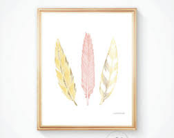 French Feathers Home Decor And Accessories Feather Print Etsy 87