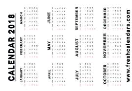 blank 2018 calendars blank printable 2018 calendar templates