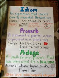Idiom Proverb Adage Anchor Chart Adages Proverbs Grammar