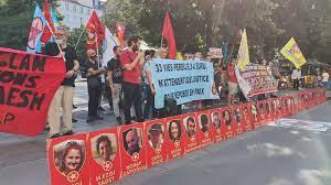 Paris'te Suruç katliamı protesto edildi / VİDEO