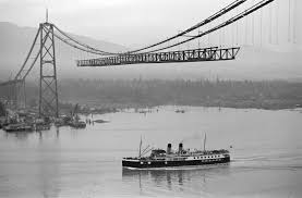 Image result for construction on the Golden Gate Bridge, peak