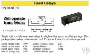 switch the basic understanding of electronics comes from a switch 4 reed relay
