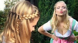 Oktoberfest Frisur Makeup Dirndl Perfekter Wiesn Look Youtube
