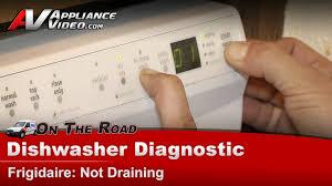 See Through Dishwasher Dishwasher Diagnostic Repair Not Draining Frigidaire