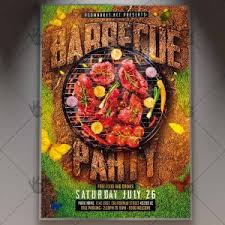 Download Barbecue Flyer Grill Psd Template Psdmarket