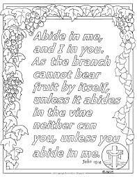 Children coloring sheet intend to help a child in developing knowledge about a. Coloring Pages For Kids By Mr Adron John 15 4 Print And Color Page Abide In Me Bible Verse