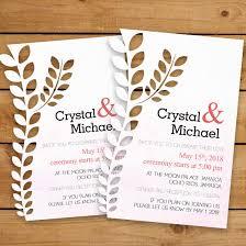 Wedding Invitatiins D Leaf Cut Wedding Invitations S2 Stewys Greetings